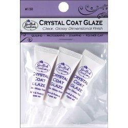 Paper Coat (Quilled Creations Crystal Clear Coat Glaze for Paper Crafting, 3 Per)