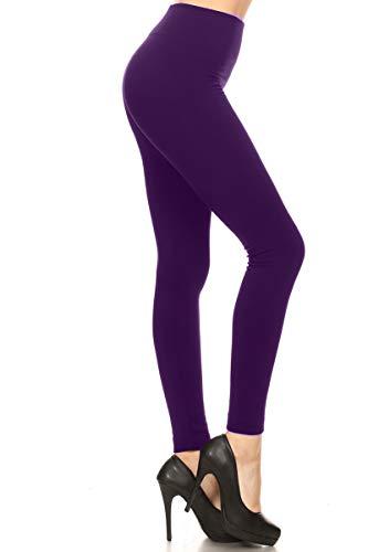 Fleece Leggings (Plus Size (Size 12-24), FLX-Plum)