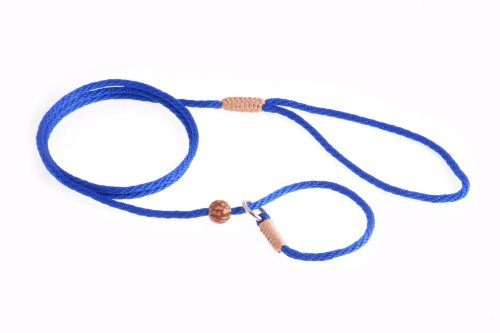 Alvalley Nylon Slip Lead with Stop for Dogs 4mm X 123cm or 1/8in X 4ft