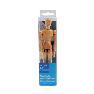 Artist's Loft 8 inch Male Manikin Fully Jointed Hardwood Figure for Drawing Mannequin