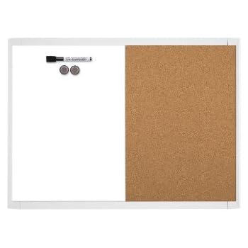 Amazon.com: Quartet Magnetic Dry Erase Board & Cork Board, 17 x 23 ...
