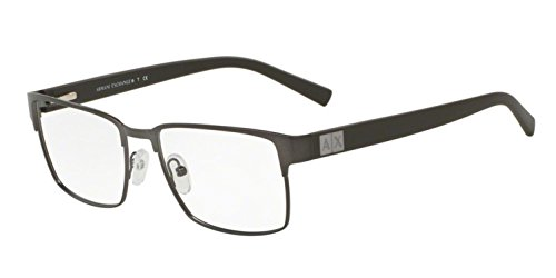 Armani Exchange AX1019 Eyeglass Frames 6089-54 - Dark Matte Gunmetal