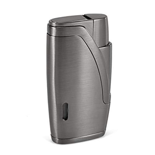 - CiTree Torch Lighter, 2 Jet Flame Butane Cigar Lighter with Cigar Punch