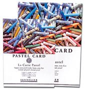 Sennelier : Soft Pastel Card (fine sandpaper grain) Pad 24x16cm 12 sheets of 6 assorted colours 360gs