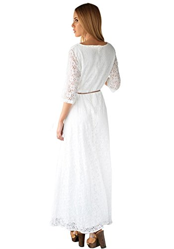 Lacey dresses for women white