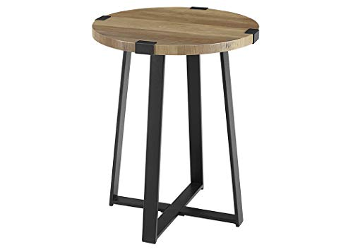 WE Furniture AZF18MWSTRO Side Table, Rustic Oak