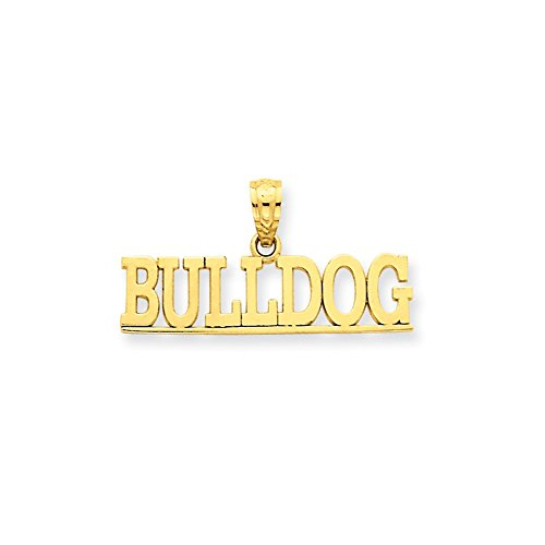 Jewelry Pendants & Charms Themed Charms 14k Bulldog Pendant