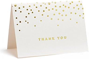 Gold Foil Dots Thank You Cards Gartner Studios 13745 Regalos De Navidad
