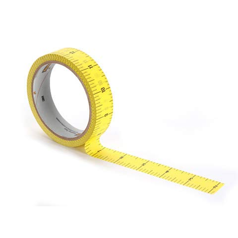 (Scotch Brand 3437-P5 Masking Tape Measure .94X20YD, 0.94 in x 20 yds, Multicolor)
