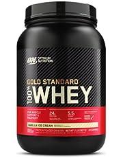Optimum Nutrition 100% Whey Gold Standard,Vanilla Ice Cream,2lb (0.9 kg)