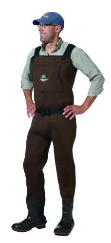 Caddis Brown Neoprene Bootfoot Waders, 10