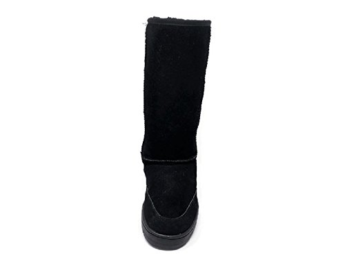 Shearling Mid Premium Slipper Genuine Women's Snow Black Hut Boots Booties Australian Calf Sheepskin nSnfqXW