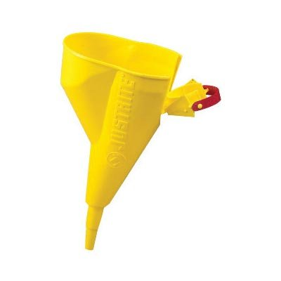 Justrite 1/2'' X 11 1/4'' Yellow Polyethylene Pour Funnel (For Type I 1 Gallon And Above Steel Safety Cans) by Justrite