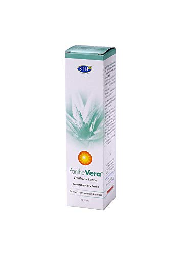 PantheVera Treatment Rich Moisture Body Lotion for Relief of Skin Irritation and Redness, Nourishing Aloe Vera and Panthenol 6.08oz \ 180ml