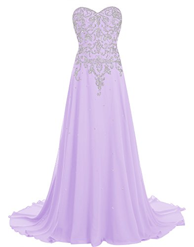 31Wi0ORsKXL - BeryLove Women's Beading Long Prom Dress Chiffon Corset Evening Gown With Train Royalblue Size 16