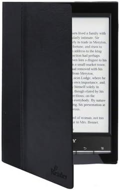 Funda de piel sintética para eReader Sony PRS T2 / T1. Color negro