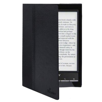 Funda de piel sintética para eReader Sony PRS T2 / T1. Color negro ...