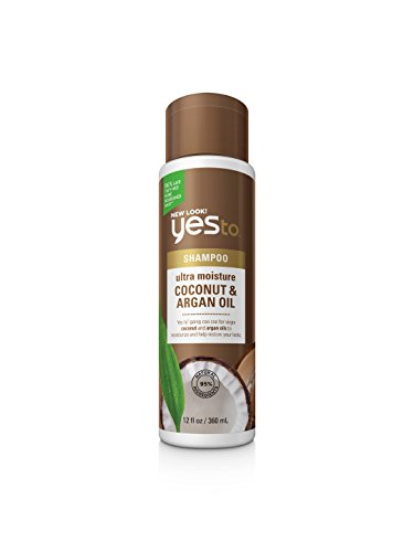 Yes To Ultra Moisture Shampoo,Coconut&Argan Oil, 12oz, 2 Pac