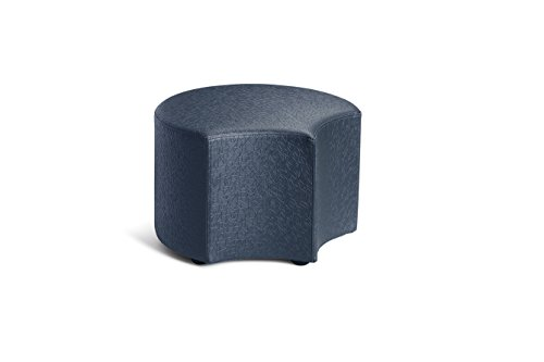 Logic Furniture MOONENY12 Moon 4 Face Ottoman, 12'', Navy by Logic Furniture