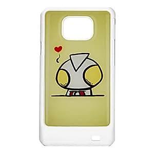 ZCL-Nutria Patrón cubierta de la caja del amor-corazón trasera dura protectora para Samsung I9100 Galaxy S2