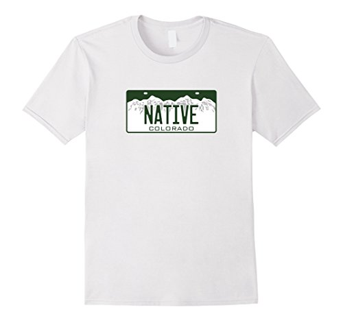 Men's Colorado NATIVE License Plate T-Shirt Medium - Colorado Native