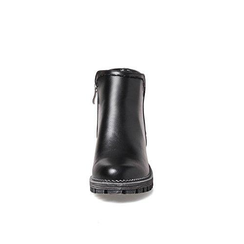 Retro Retro Platform Antislip Lederen Laarzen Van Balamasa Abl10188 Zwart