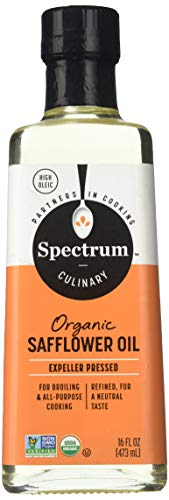 High Oleic Organic Sunflower Oil - Spectrum Organic Safflower Oil, 16 Fl Oz