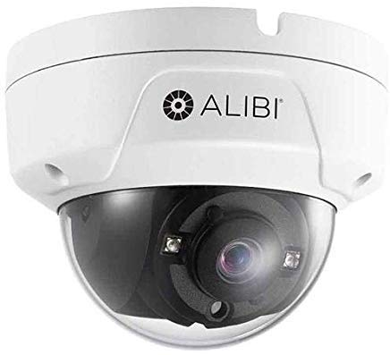 Alibi 5.0MP HD-TVI Day & Night Outdoor Vandalproof Dome Security Camera with 2.8mm Lens, WDR, 65′ IR, White