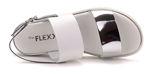 EU The FLEXX Sandalo Argento 35 Donna Samantha Bianco e FSZPaw8qF