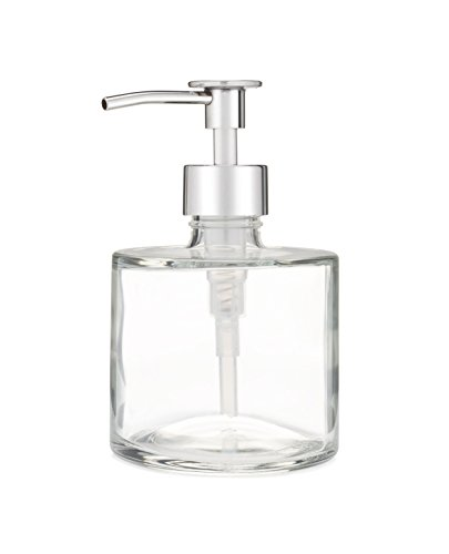 Rail19 Seaside Spa Soap Dispenser w/Metal Soap Pump for The Kitchen and Bathroom Great for Lotions and Liquid Hand Soaps (Luxe Chrome)