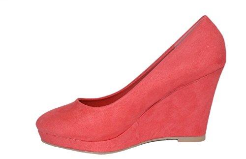 rosso Con Plateau Rosso Elara Scarpe Donna f4xRq7
