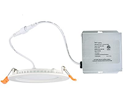 Yay Lighting LED Recessed Ceiling Light – Ultra Thin Round Spotlight – Dimmable - ETL List - IC-Rated - with Remote Driver Box