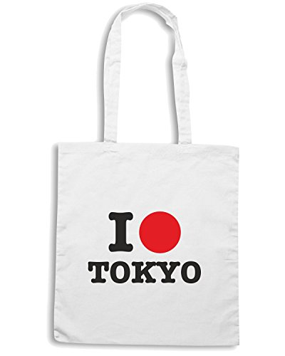 T-Shirtshock - Bolsa para la compra T0242 I LOVE TOKIO Blanco