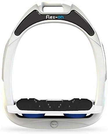【Amazon.co.jp 限定】フレクソン(Flex-On) 鐙 ガンマセーフオン GAMME SAFE-ON Mixed ultra-grip フレームカラー: ホワイト フットベッドカラー: ホワイト エラストマー: ブルー 06067