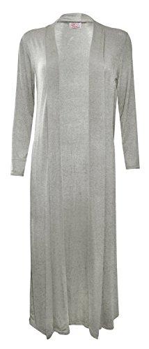 MyMixTrendz - Womens Long Sleeve Calf Length Cardigan (M (UK 12 EU 40 US 6), Grey)