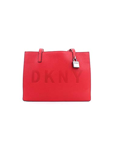 Dkny Women's Dkny Commuter Medium Red Leather Shoulder Bag Red
