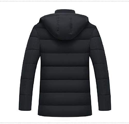 Mens Thermal Down Mogogo Hood Jacket Winter Casual Thicken Black Removeable Yf00xd4