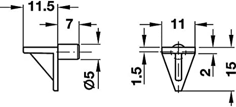 40 St/ück Bodentraeger Kunststoff weiss f/ür 5mm Bohrloch PiHaMi/®