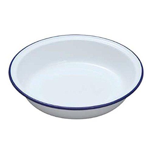 Falcon White Enamel Round Pie Dish 18cm-2PK