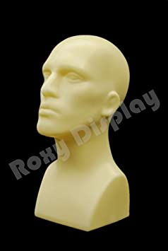 abstract style ROXY DISPLAY Male mannequin head Light weight PS-M-BK Two pcs