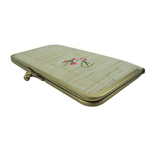Femme d'embrayage Tissu Sac à Sac 04 Or Long 04 Broder Color Sac Portefeuille Tsutou à qS5xXgwT5