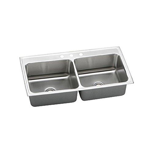 Lustertone Undermount Bar Sink (Elkay DLR4322103 Gourmet Lustertone Sink, Stainless)