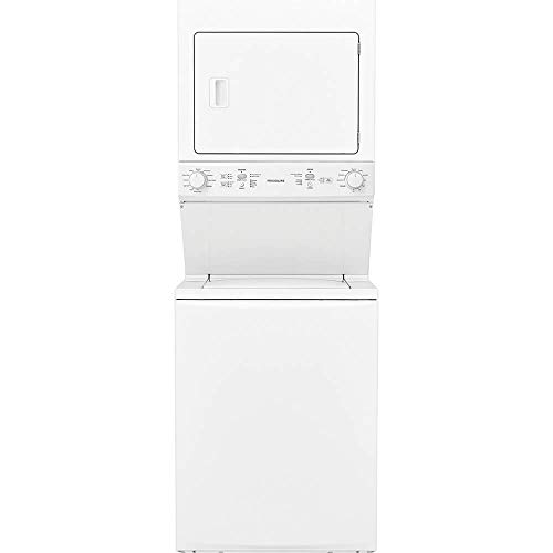 (Frigidaire FFLG3900UW 27 Inch Gas Laundry Center with 3.9 cu. ft. Washer Capacity, in White)