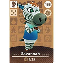 Nintendo Animal Crossing Happy Home Designer Amiibo Card Savannah 133/200 USA Version ()