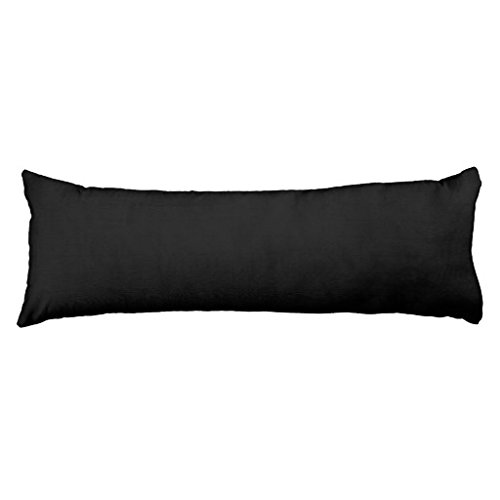 Long Pillow Case For Bed Body Pillow Solid Black And White
