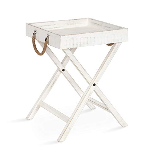 Kate and Laurel Bayville Vintage Tray Table, 17