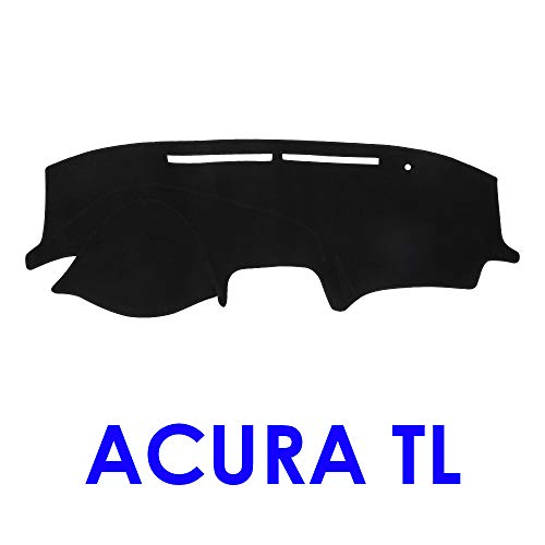 (JIAKANUO Auto Car Dashboard Dash Board Cover Mat Fit for Acura TL 2004-2008 (Black))