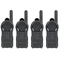 4 Pack of Motorola DLR1020 Two Way Radio Walkie Talkies