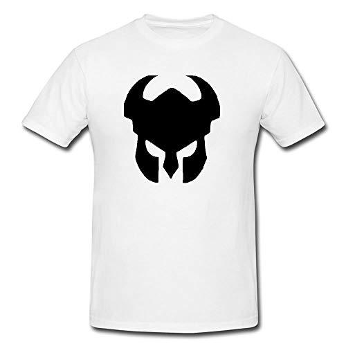 Bonus Creation Warrior Viking Knight Medievil Helmet T-Shirt Modern Quality T-Shirt (X-Large) White