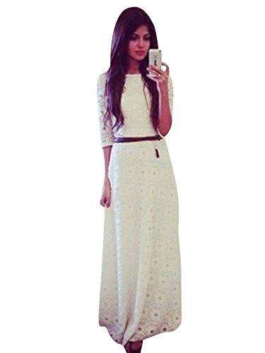 Dama De Molly Mujeres Atractiva De Delgado Vestido Encaje Blanco Large Honor w6gTqSpx